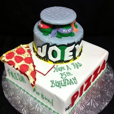 Teenage mutant ninja turtle cake from wwwkriebelscustomcakes.com