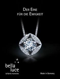 Diamantschmuck - ein brillanter Moment für die Ewigkeit. Zaubern Sie Ihrer Liebsten mit einer schönen Kette ein Lächeln ins Gesicht. Auf www.bellaluce.de finden Sie eine schöne Auswahl an Diamantschmuck. Eine tolle Geschenkidee zu Weihnachten. #diamantschmuck #weihnachten #geschenkidee