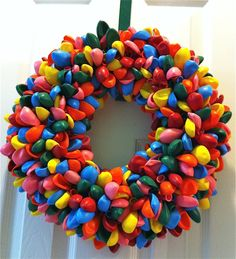 balloon wreath, maybe in pink and white My neighbor has this on her front door and it is adorable!! bjb