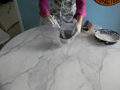 Faux Carrara Marble + IKEA hack; w/ video tutorial