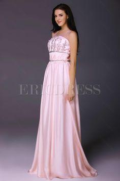 Brilliant Square Neckline Beadings Floor-Length Milanas Evening Dress