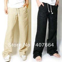 Idée simple homme : pantalon en lin ou coton naturel