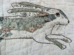 Thread & Thrift: Stitched Drawings by Mandy Pattullo, textile artist and printmaker from Northumberland