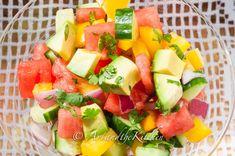 Cucumber Watermelon Summer salad