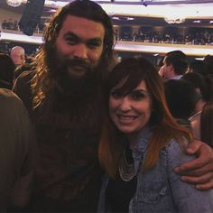 @Regrann from @stephanie_ramires - I am literally the happiest girl in the world right now!!!! Thank you Jason Momoa for taking a picture with me!! #metallica#guinness#jasonmomoa#grammys2017#frontier#gameofthrones#happyfam - #regrann