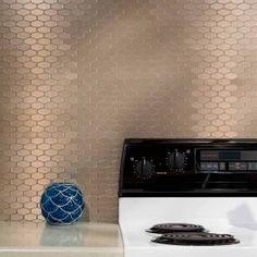 Search Results For Backsplash Metal Aspect Backsplash Honeycomb In Brushed Champagne Matted