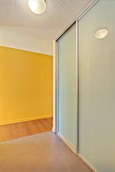 Bedroom glass closet doors