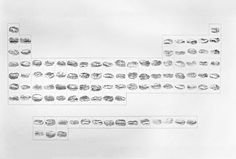 Kelli Anderson's Periodic Table of Hamburgers • A large scale (12' long) rendering of the periodic table. Graphite on paper. °