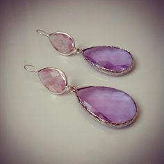 New earrings with pink and violet crystals! #earrings #orecchini #handmade #handmadejewels #handmadeearrings #jewelery #jewerly #bijoux #jewels #ibijouxdielisa