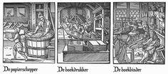 In de middeleeuwen was het maken/schrijven van boeken monnikenwerk, de boeken werden helemaal met de hand overgeschreven, maar in de 17e eeuw werd de eerste drukpers uitgevonden. Met de drukpers konden ze de boeken vollediger, sneller en in grotere aantallen leveren. De boeken werden goedkoper, zo konden burgers met minder geld, de boeken ook kopen.
