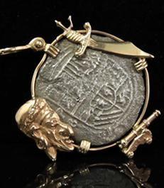 Colgante de moneda del Nuestra Señora de Atocha 1622   Certified Atocha Treasure Coin