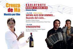 CREUZA DE MA' – MUSICA PER FILM – CARLOFORTE – VENERDI 27 MARZO 2015