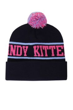 Candy Kittens Navy Bobble Hat as seen on Lucy Watson