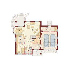 Rzut DA Dandys 1 G2 CE Good House, House Plans, Floor Plans, 1, How To Plan, Holiday Decor, Attic, Home Decor, Houses