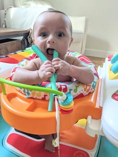 """Our four month old loves his baby teething tubes! So glad we got the three pack. It is nice to have extra for sanitizing, diaper bag, grandparents house, etc."" ~ Kaitlin H. Best Teething Toys, Baby Teething Remedies, Old Love, Happy Baby, Our Baby, Grandparents, Diaper Bag, Tube, Grandmothers"