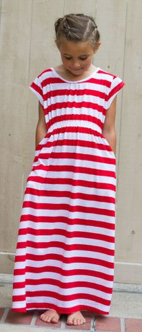 Go To Signature Dress sewing pattern - girl's knit pattern. Looks very versatile.