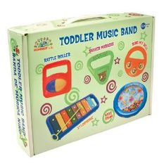The Hohner Kids Toddler Music Band is a set of five musical instruments just the right size for children 12 months and up. BPA, Lead and Phythlate FREE! Music Toys For Toddlers, Toddler Toys, Toddler Music, Kids Toys, Baby Toys, Kids Music, Baby Baby, New Orleans Jazz, Tools And Toys