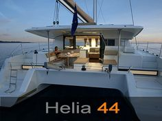 The amazing Fountaine Pajot Helia 44. I think this one might be moving to the top of the list for our cruising family.