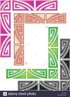82171aa63cc Stock Vector - Twenties style art deco border elements for stationery design