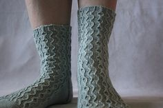 Out of Phase Socks by Rachel Gibbs