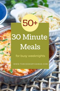 Looking for some new quick & easy ideas for mid-week meals? With over fifty different 30 minute meal ideas, you are bound to find a new favourite. Healthy One Pot Meals, Healthy Weeknight Meals, Easy Healthy Dinners, Quick Easy Meals, Healthy Snacks, Easy Family Meals, Dinners For Kids, Meals For The Week, Meal Ideas