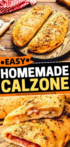 Try this pizza-with-a-twist for an easy dinner idea tonight! Calzone Recipe is a simple meal with classic pizza toppings like mozzarella cheese, bacon, and pepperoni crammed inside pizza dough. Save this easy recipe! Homemade Calzone, Calzone Recipe, Crockpot Recipes, Cooking Recipes, Yummy Recipes, Recipies, Best Dinner Recipes, Whole 30 Recipes, Easy Family Meals