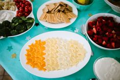 Star Shaped Cheese Slices - perfect at a Twinkle, Twinkle Little Star party!