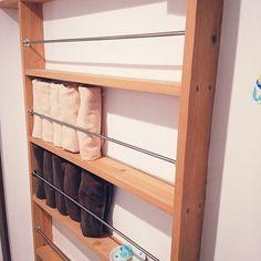 美しいサニタリーを作る、タオル収納のアイデア