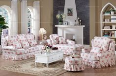 Country Style Hanfeier Living Room Sectional Sofa - MelodyHome.com