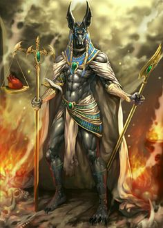 Anubis is the protector of the gates to the underworld. God of Egypt