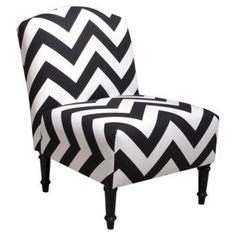 Chevron Camelback Chair.