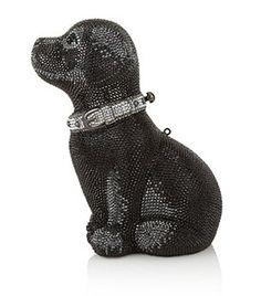 JUDITH LEIBER  Puppy Sequin Clutch Bag