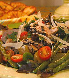Tuna Nicoise Salad with Parmesan