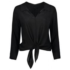 SHARE & Get it FREE   Long Sleeve Cropped Front Tie ShirtFor Fashion Lovers only:80,000+ Items·FREE SHIPPING Join Dresslily: Get YOUR $50 NOW!