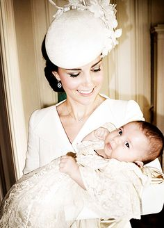 Kate and Princess Charlotte on her christening day.