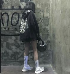Swag Outfits, Girl Outfits, Cute Outfits, Fashion Outfits, Dark Fashion, Asian Fashion, Estilo Grunge, Uzzlang Girl, Ulzzang Fashion