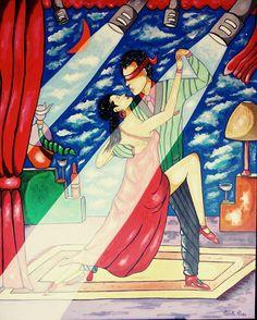 TANGO, Coppia balla un tango Tango, Painting, Art, Art Background, Painting Art, Kunst, Paintings, Performing Arts, Painted Canvas