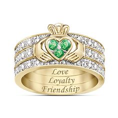 Blessing Of The Claddagh Emerald