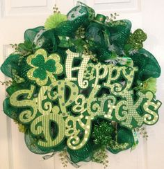 St. Patrick's Day wreath on Etsy, $53.00
