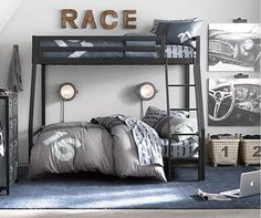 This site had a collection of some great room ideas- this link takes you to Car Themed rooms. Very cute.