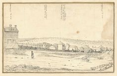 Pen and Ink Drawing of a Portion of Melbourne from near the corner of Bourke and William Streets October 1844 Melbourne Victoria, Victoria Australia, Melbourne Suburbs, Williams Street, Ancient Architecture, Historical Pictures, Old Photos, Vintage World Maps, History