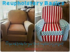 A basic guide for reupholstering! How to reupholster old furniture.  Leap! ...and the Net Will Appear: Reupholstering Tips and Tricks - AKA First big nursery project!!