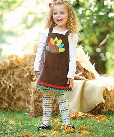 Look at this #zulilyfind! Mud Pie Brown Turkey Jumper & Tights - Infant & Toddler by Mud Pie #zulilyfinds