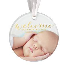 Simple Modern Baby Birth Photo Announcemen All Ornaments -Black Friday Quick Sale,25% Off starts now ,9.30 am,24/11/14 ,(3 hrs left)