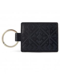 KEYRING Embossed Leather