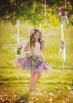 Fairy skirt only flower fairy skirt fairy by enchantedfairyco Fairy Photography, Children Photography, Flower Skirt, Flower Girl Dresses, Fairy Photoshoot, Foto Fantasy, Fairies Photos, Pinterest Photography, Foto Baby