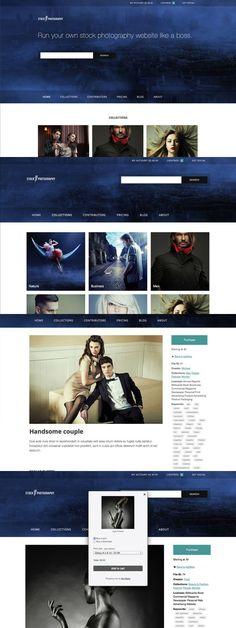 Stock Photography - eCommerce Theme. WordPress Photography Themes. $75.00