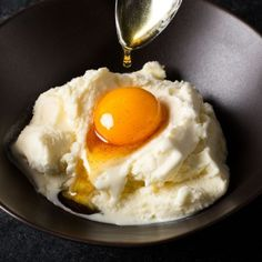 Salted Bourbon Caramel–Cured Egg Yolks with Vanilla Ice Cream-Cook's Science