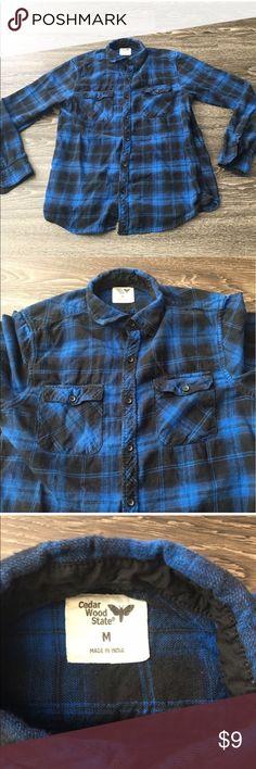 Cedar Wood State Flannel Cedar wood state Flannel. Size:M cedar wood state Shirts Casual Button Down Shirts