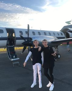 when we took private jet home from the netherlands‍♂️ Cute Boys, My Boys, Instagram 2017, Love Twins, Bars And Melody, Dream Boyfriend, I Go Crazy, M Photos, Twin Brothers
